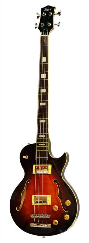 Alden AD-LP Bass Guitar Flamed Sunburst