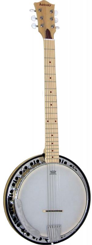 Ashbury 6 String Guitar Banjo Maple