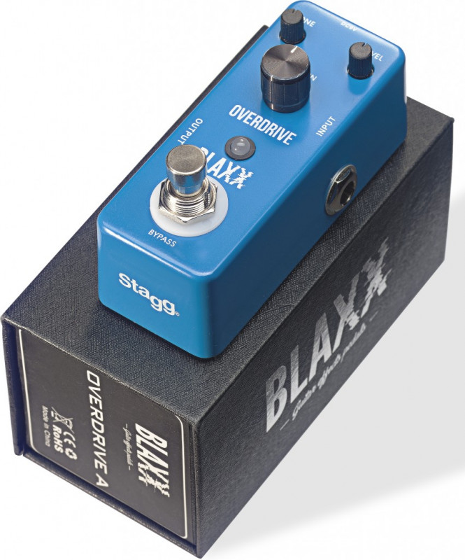 BLAXX Overdrive pedal for electric guitar