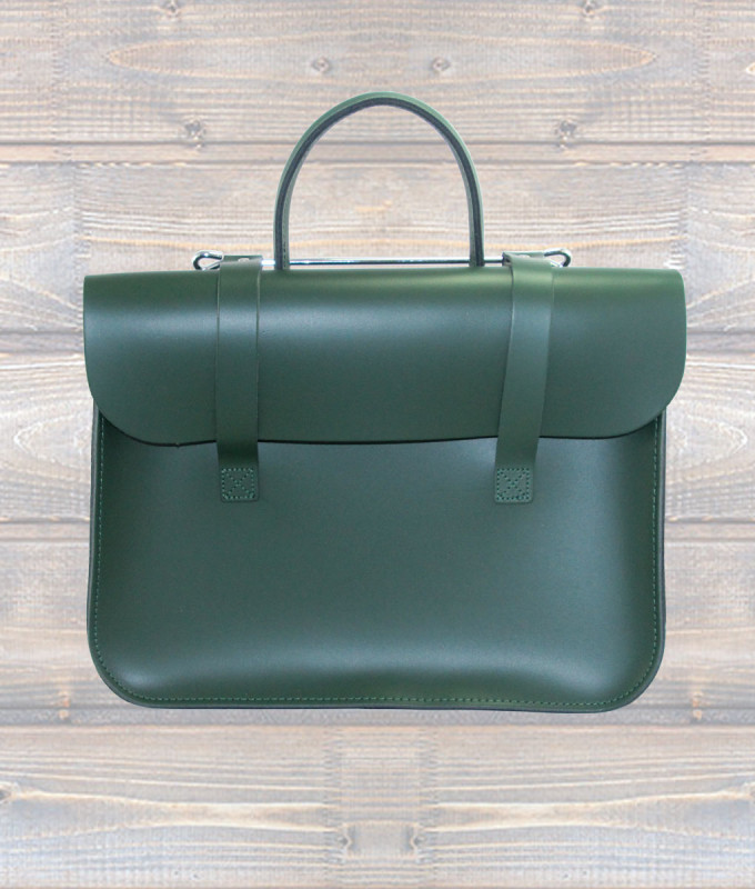 Leather Music Case – Green