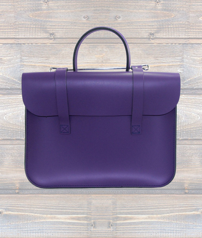 Leather Music Case – Purple