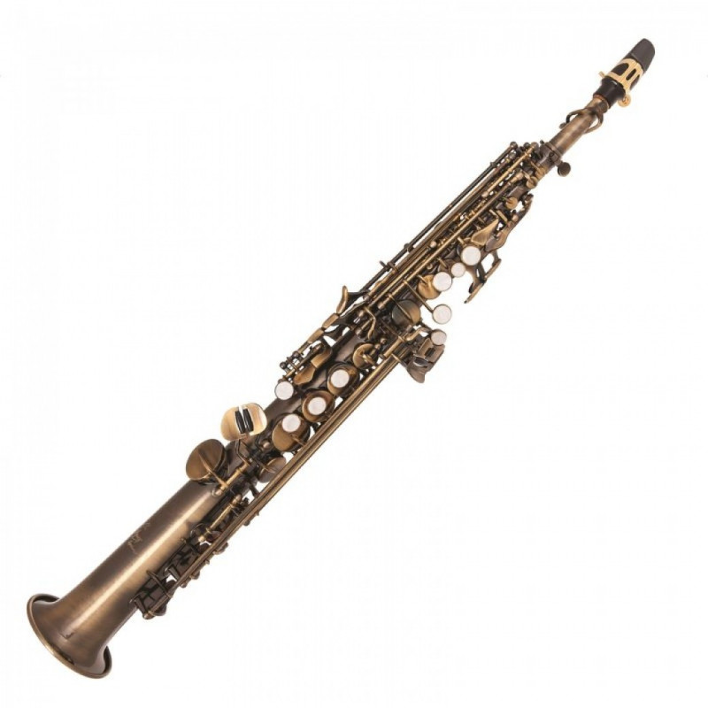 ODYSSEY SYMPHONIQUE STRAIGHT 'BB' SOPRANO SAXOPHONE OUTFIT – DISTRESSED