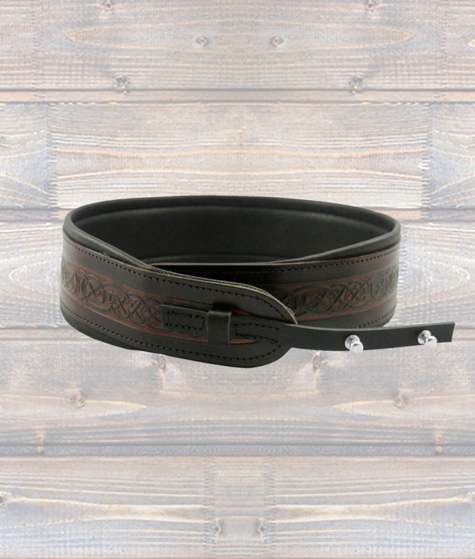 Pro Banjo Brown Leather Strap