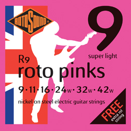 Roto Pinks Electric Guitar Strings