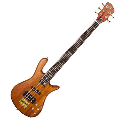 SX 5 String Bass Curved Body, Natural