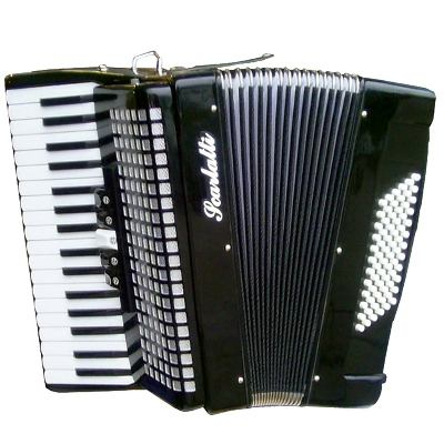 Scarlatti Piano Accordion, 72 Bass.Black
