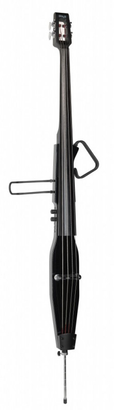 Stagg 3/4 electric double bass with gigbag, metallic black