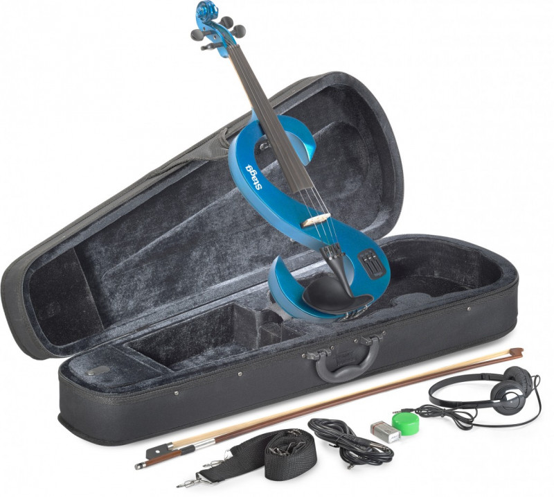 Stagg Electric 4/4 electric violin set - Blue
