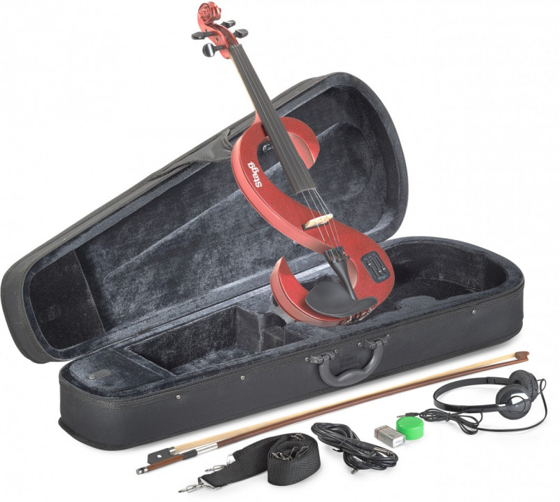 Stagg Electric 4/4 electric violin set - Red