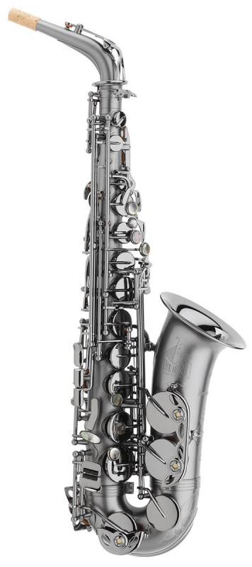TREVOR JAMES HORN CLASSIC II ALTO SAX OUTFIT - BLACK FROSTED. BLACK KEYS