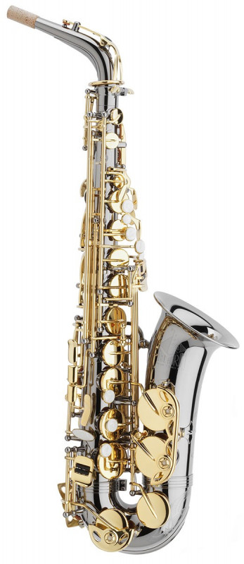 TREVOR JAMES HORN CLASSIC II ALTO SAX OUTFIT - BLACK. GOLD LACQUER KEYS