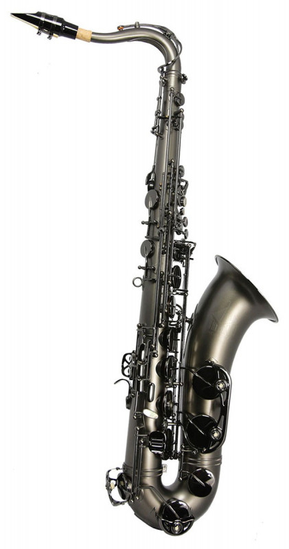 TREVOR JAMES HORN CLASSIC II TENOR SAX OUTFIT - BLACK FROSTED. BLACK KEYS