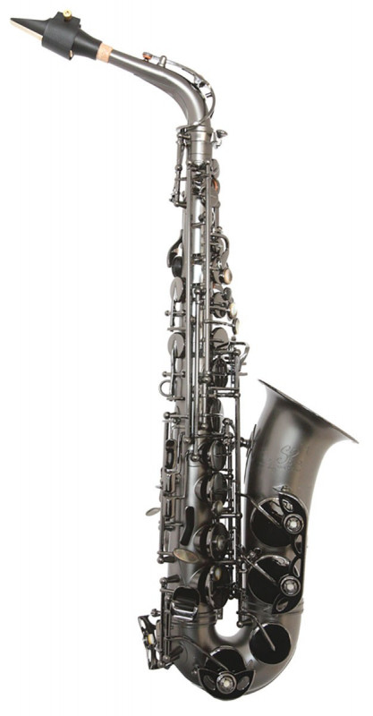 TREVOR JAMES SR ALTO SAX OUTFIT - BLACK FROSTED. BLACK KEYS