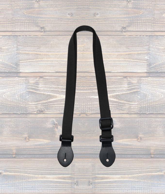 Ukulele Webbing Strap – Black