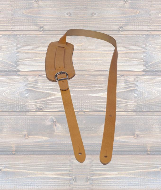 Vintage Shoulder Pad Guitar Strap – Tan