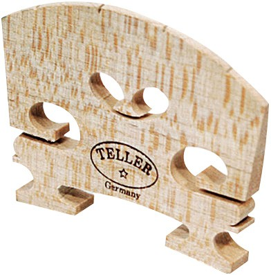 Violin Bridge - Aubert Model. Shaped and Fitted. 1/2