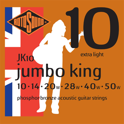 rotosound jumbo acoustic strings 10s