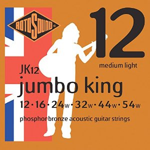 rotosound jumbo acoustic strings 12s